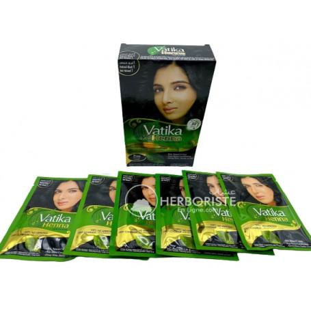 Henné Vatika couleur marron foncé pour cheveux - 6 sachets - حنة رويال