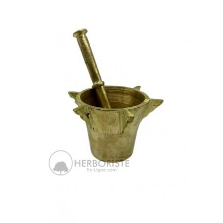 Mortier et pilon cuivre - Bol à moudre - Al mahraz-  la pièce