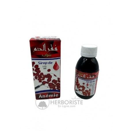 Sirop naturel cas de carence et d'anémie - 125ml