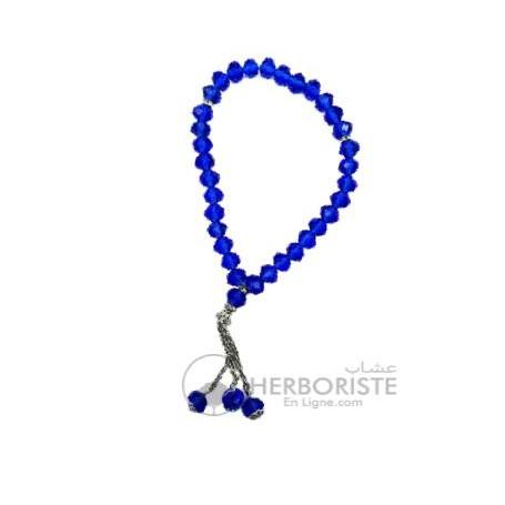 Chapelet Musulman bleu azur - 33 éléments - Misbaha - مسبحة