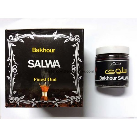 Encens Oud Couleur Noir Bakhour Salwa - بخور العود سلوى