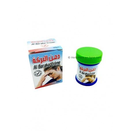 Crème Al Baraka - Traitement contre la migraine- (chaqiqa) - 50 g- علاج الصداع النصفي  - (الشقيقة)- كريم البركة