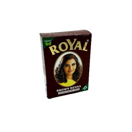 Henné Royal couleur châtain pour cheveux - 6 sachets