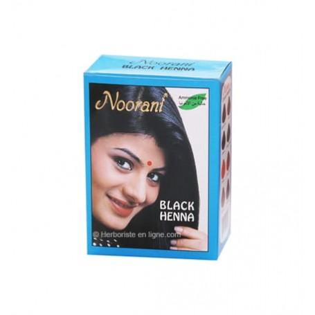 Henné Noorani Inde couleur noir pour cheveux - 6 sachets